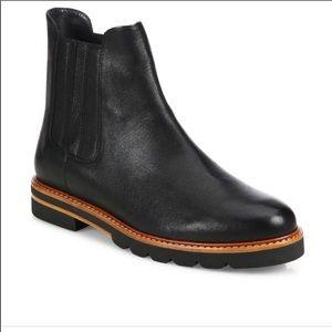 Stuart Weitzman Black Leather Chelsea Boot